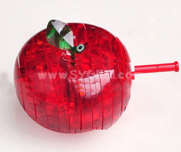 Exquisite The Apple Pettern DIY 3D Light Jigsaw Crystal 45PCs