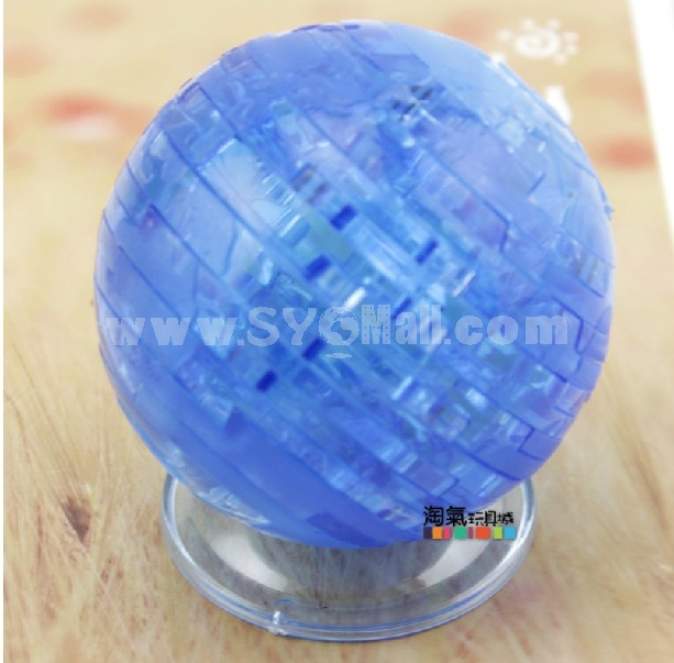 Exquisite 3D Earth Pattern DIY Light Jigsaw Crystal 40PCs