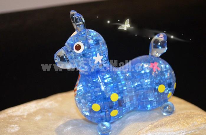 Exquisite 3D Cute Horse DIY Jigsaw Crystal 49PCs