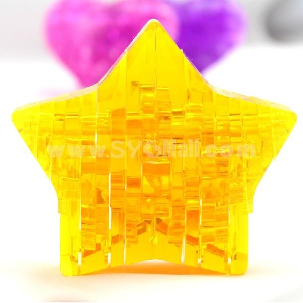 Exquisite 3D Star DIY Jigsaw Crystal 46PCs