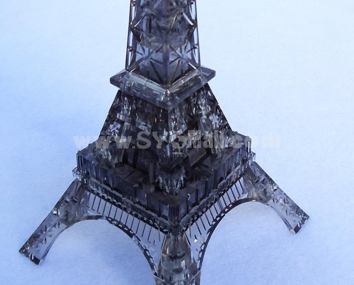Exquisite 3D Eiffel Tower Pattern DIY Light Jigsaw Crystal PCs