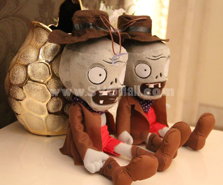"Plants vs Zombies 2 Series Plush Toy Cowboy Zombie Small Size 30*12CM/12*5"""
