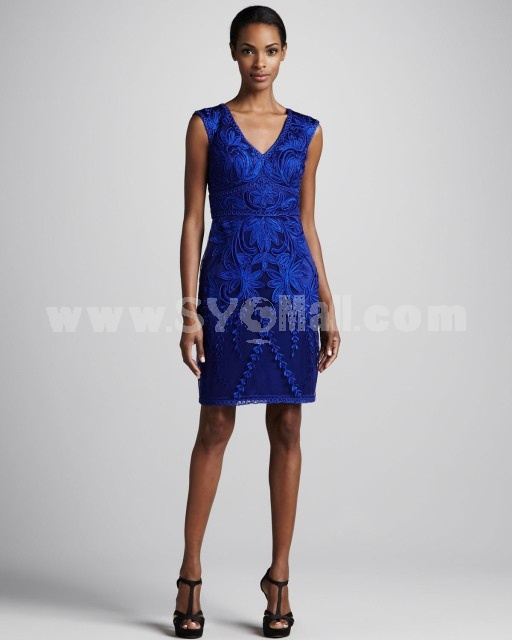 AS 2013 New Arrival lace Embroidery Slim Dress Evening Dress CD092