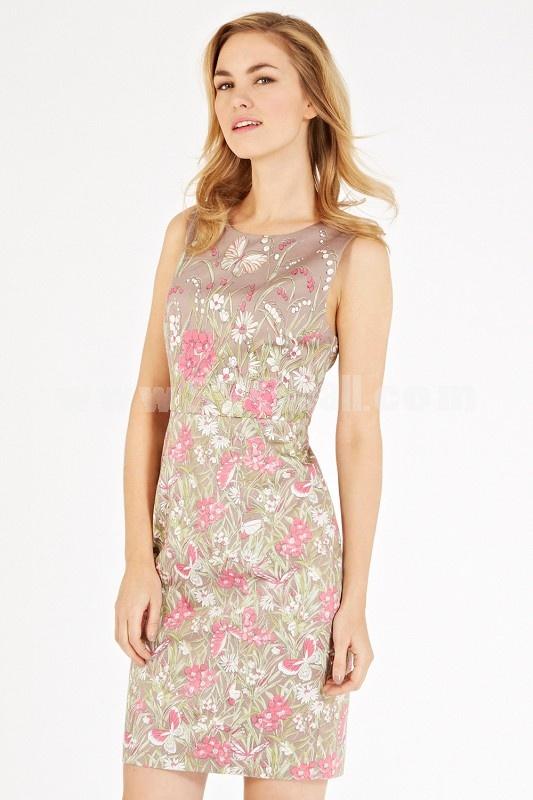AS 2013 New Arrival Flower Painting Slim Dress Evening Dress KL168
