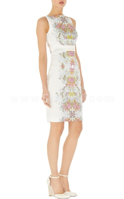 2013 New Arrival Vintage Style Flower Painting Slim Dress Evening Dress DQ279