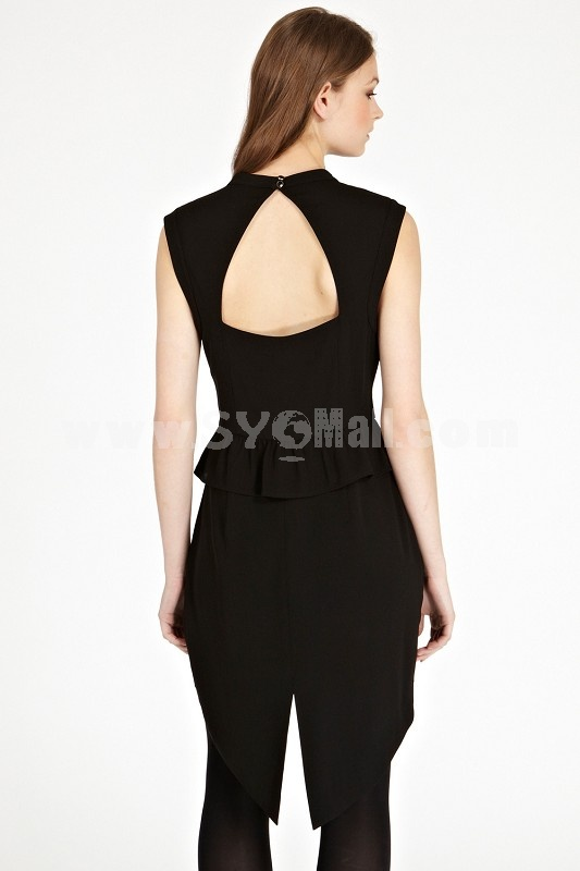 2013 New Arrival Hollowed-out Swallow-tailed Slim Dress Evening Dress KM601