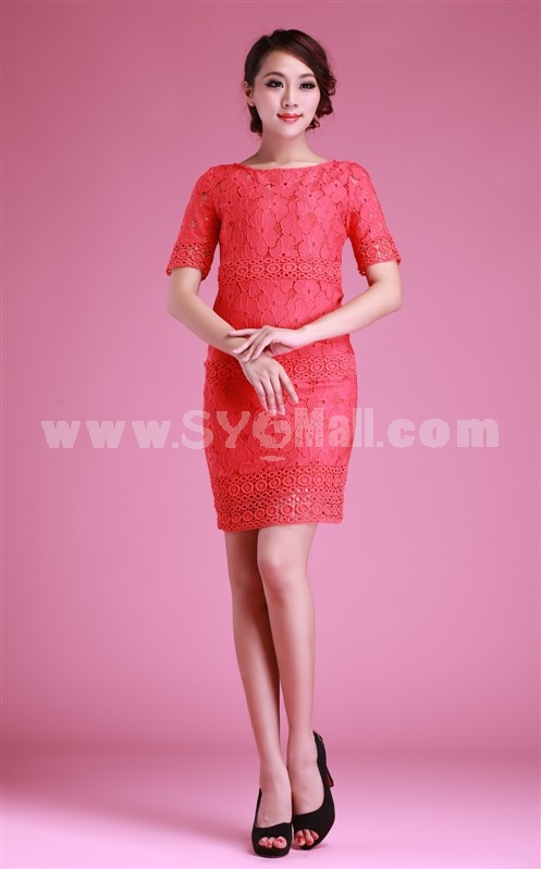 2013 New Arrival Mid-rise Fifth Sleeve Slim Dress Evening Dress KC054 04