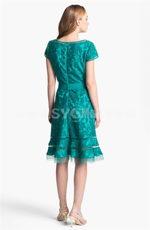 2013 New ArrivalShort Sleeve Lace Slim Dress Evening Dress KC108 40