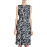 Wholesale - Elegant Simple Design Bout Neck Slim Dress Evening Dress