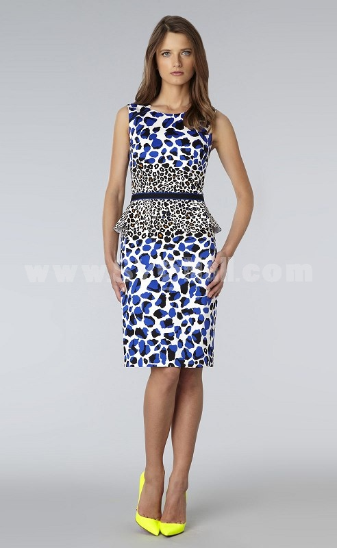 2013 New Arrival Euameriacan Style Simple Painting Slim Dress Evening Dress CT6287