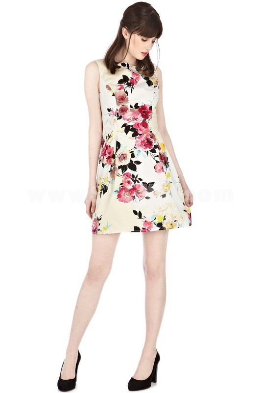 2013 New ArrivalRound Neck Painting  Slim Dress Evening Dress KL600