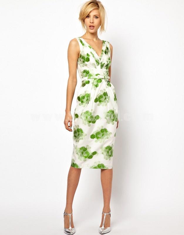 2013 New Arrival V-neck Draped Slim Dress Evening Dress KL407