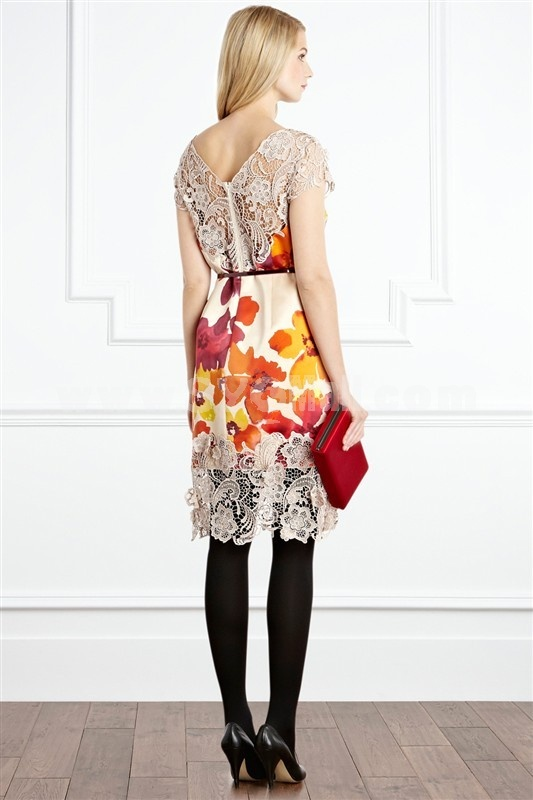 2013 New Arrival Painting Pattern Slim Dress Evening Dress CT4998