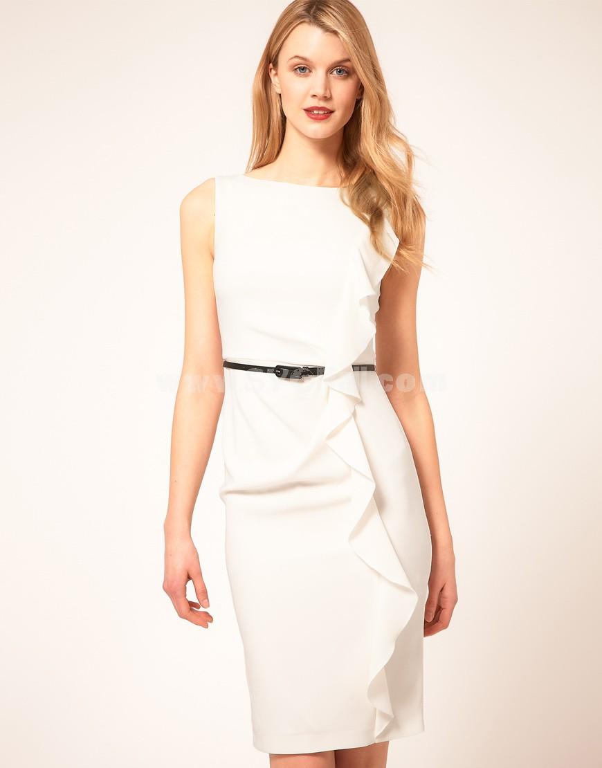 2013 New Arrival Simple Design Lady Slim Dress Evening Dress CT7350