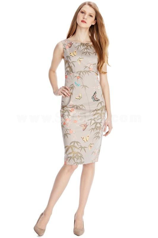 2013 New Arrival Elegant Flower Painting Slim Dress Evening Dress KL4100