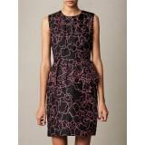 Wholesale - Round Neck Sleeveless Falbala Slim Dress Evening Dress KC062