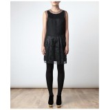 Wholesale - Round Neck Lace Grenadine Slim Dress Evening Dress 0962