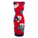 Wholesale - Hi-rise Sleeveless Flower Painting Slim Dress Evenning Dress