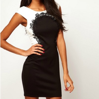 http://www.orientmoon.com/84872-thickbox/2013-new-arrival-lace-black-and-white-round-neck-slim-dress-evenning-dress.jpg