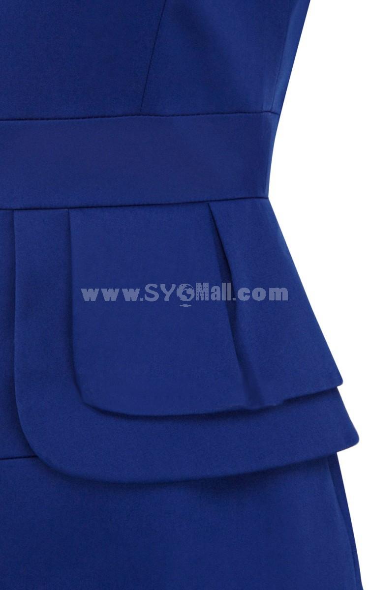 2013 New Arrival OL Style Solid Color Slim Dress Evenning Dress