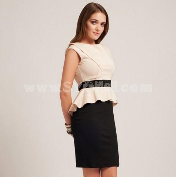 2013 New Arrival OL Style Falbal Slim Dress Evening Dress