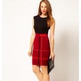 Wholesale - Stripe Pattern Round Neck Sleeveless Sundress Slim Dress Evening Dress KP080