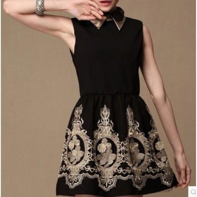 http://www.orientmoon.com/84932-thickbox/2013-new-arrival-black-polo-collar-embroidery-3d-flower-slim-dress-evening-dress.jpg
