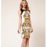 Wholesale - Round Neck Sleeveless Extra-size Slim Dress Evening Dress DN228