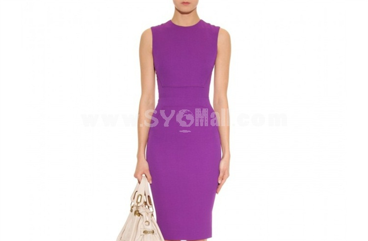 2013 New Arrival OL Style Solid Color Slim Dress Evening Dress