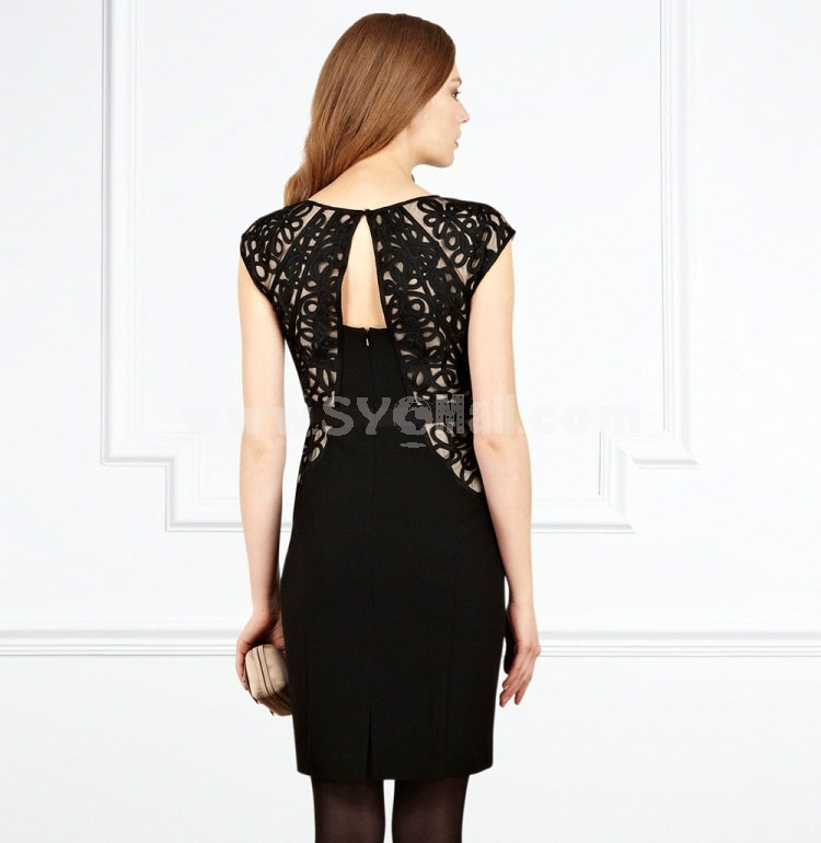 Coast 2013 New Arrival Vintage Style Exquisite Embroidery Extra-large Size Slim Dress Evening Dress