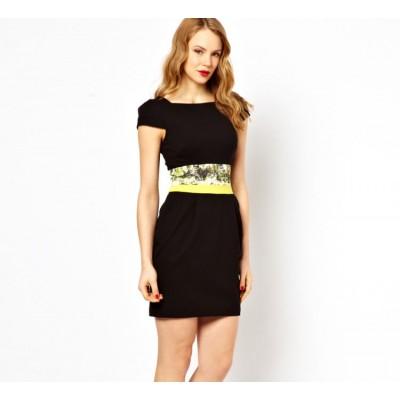 http://www.orientmoon.com/84983-thickbox/2013-new-arrival-ol-style-black-short-sleeve-waist-printing-slim-dress-evening-dress-dq022.jpg