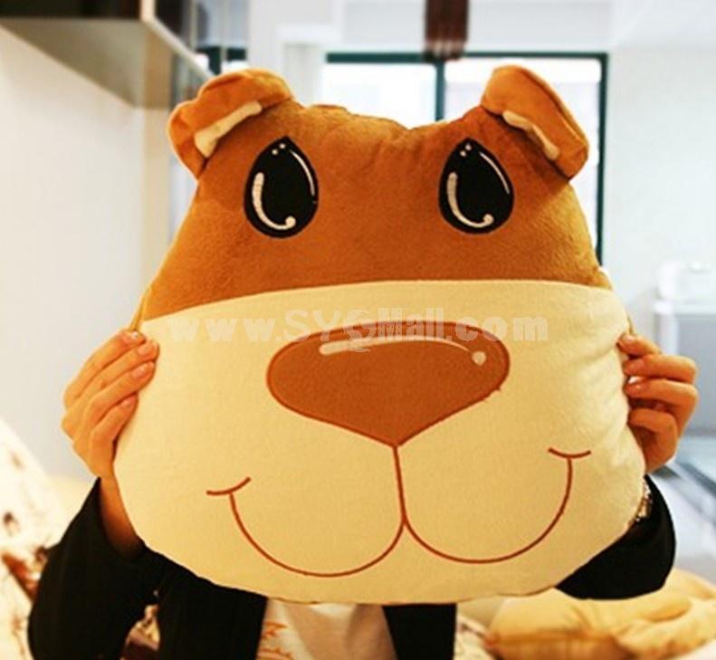 Comfort Multifunction Blanket Pillow 2 in 1 Travel Pillow - Yellow Dog