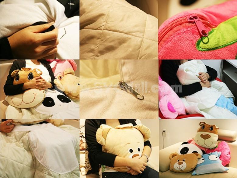 Comfort Multifunction Blanket Pillow 2 in 1 Travel Pillow - Panda