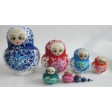 Wholesale - 10pcs Handmade Wooden Russian Nesting Doll Toy