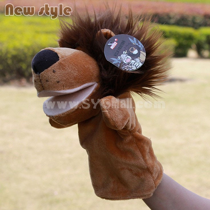Cute Cartoon Animal Madagascar Serious Hand Puppet Plush Toy - Lion