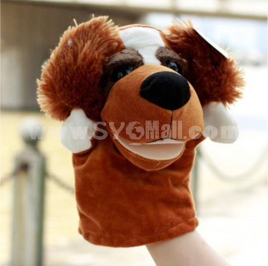 Cute Cartoon Animal Madagascar Serious Hand Puppet Plush Toy - Dog