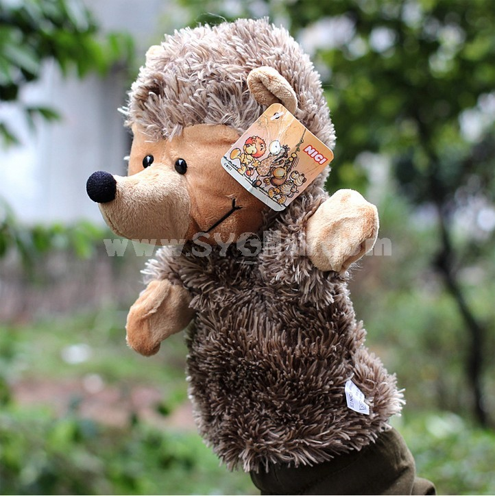 Cute Cartoon Animal Madagascar Serious Hand Puppet Plush Toy - Hedgehog