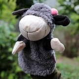 Wholesale - Cartoon Madagascar Animal Hand Puppet Plush Toy - Grey Sheep