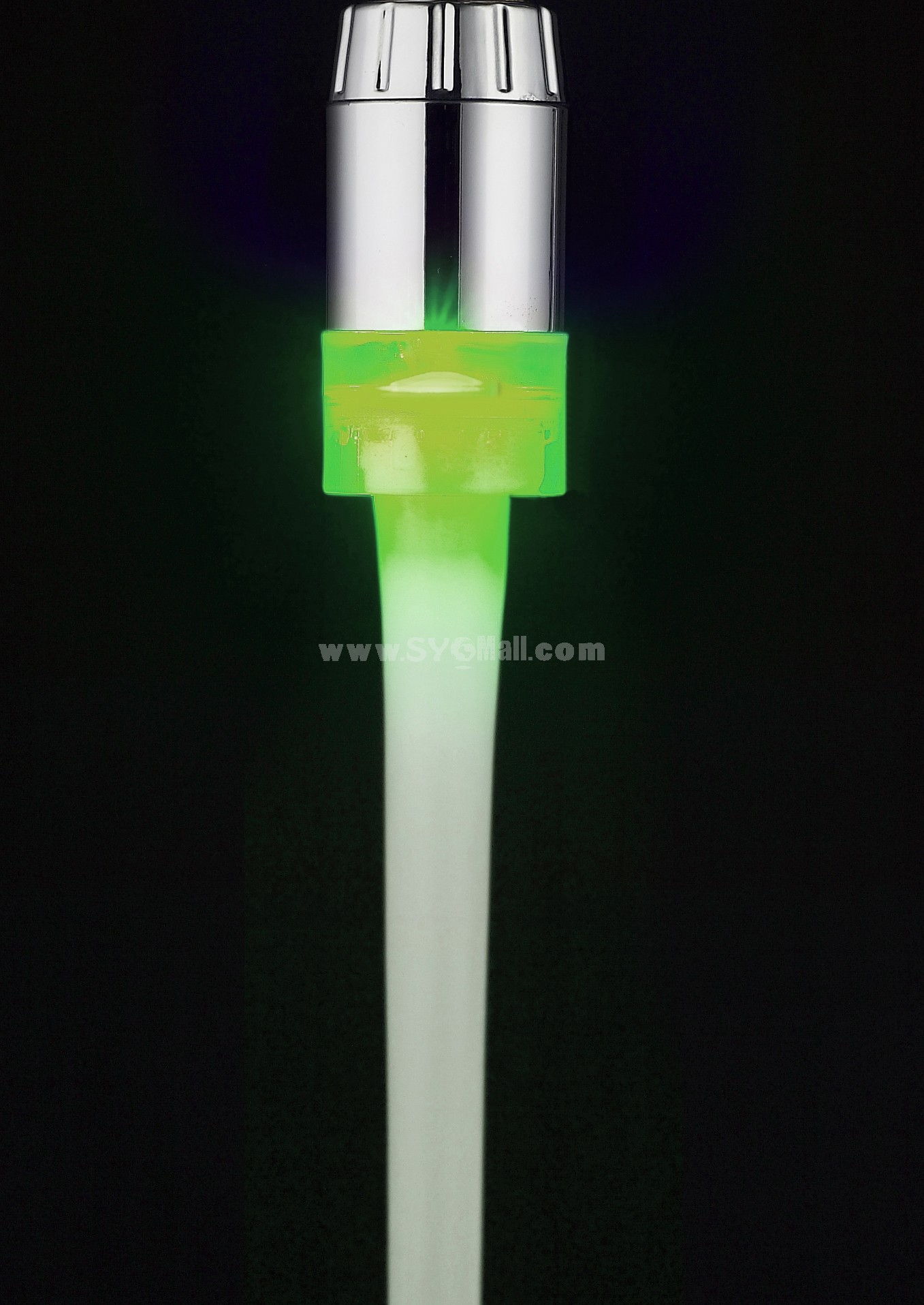 Romantic Bright Color LED Lights Bubble Faucet Mouth HY-2001W (Temperature Control Changing Color)