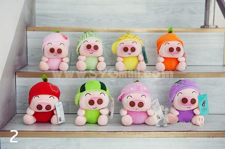 "8pcs/Lot 18cm/7"" Fruit McDull Plush Toy Pig Plush Toy"