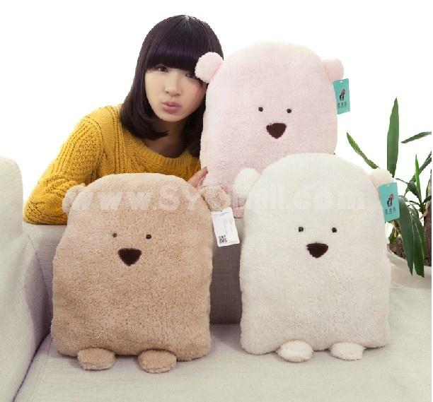30*35cm Doug Bear Throw Pillow Hand Warmer Stuffed Pillow Plush Toy