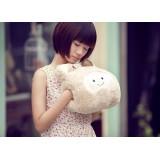 "Wholesale - White Bear Hand Warmer Stuffed Pillow 27cm/10.6"""