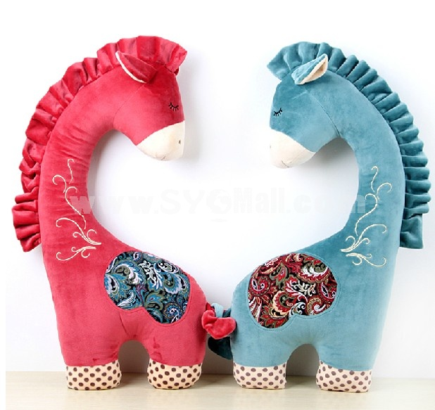 "75cm/29.5"" Pony Shaped Cushion Pillow Plush Toy"