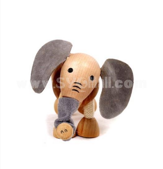 Creative Wooden Puppet Cute Animal Australia Farm Series Healthy Educational Toy - Elephant