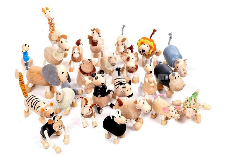 Creative Wooden Puppet Cute Animal Australia Farm Series Healthy Educational Toy - Lion