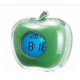 Wholesale - Apple Design Desktop Digital Talking Alarm Clock Thermometer Green