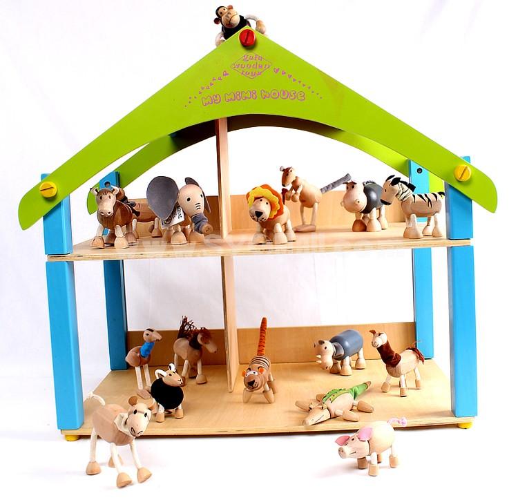 Creative Wooden Puppet Cute Animal Australia Farm Series Healthy Educational Toy - Orangutan