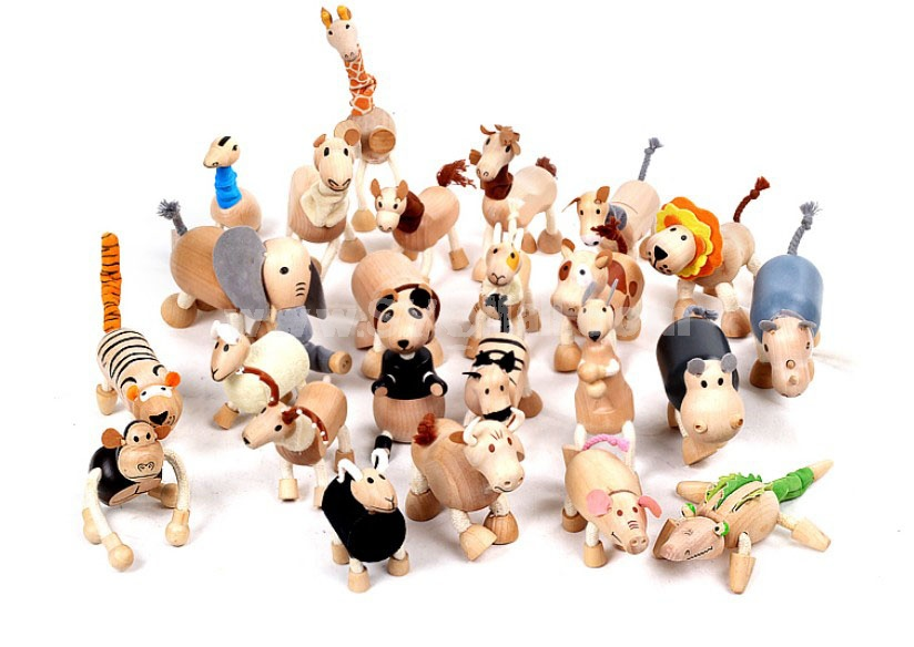Creative Wooden Puppet Cute Animal Australia Farm Series Healthy Educational Toy - Donkey