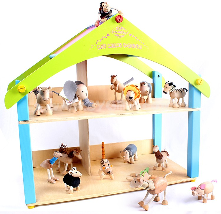Creative Wooden Puppet Cute Animal Australia Farm Series Healthy Educational Toy - Non-humped Camel