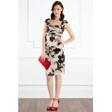 Wholesale - Chinese Painting Pattern Boat Neck Cheong-sam Dress Evening Dress